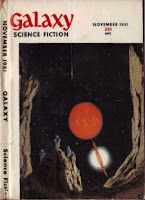 Cover image of Galaxy Science Fiction magazine, November 1951 issue.