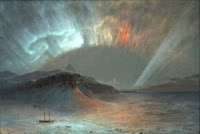 1865 painting titled Aurora Borealis by Frederic Edwin Church