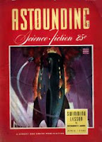 Cover by William Timmins of Astounding Science-Fiction magazine, April 1943 issue