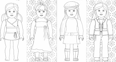 Bonggamom finds and more american girl coloring pages for American girl doll coloring page