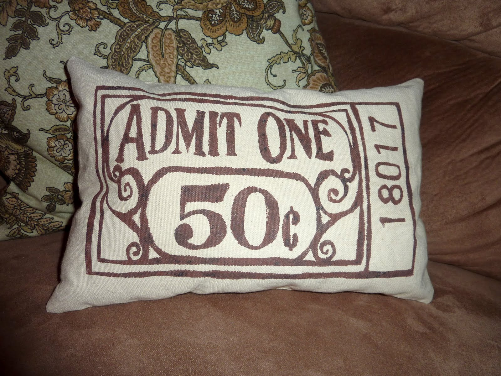 Remodelaholic  Concession Stand Pillow Idea Movie Room Decor