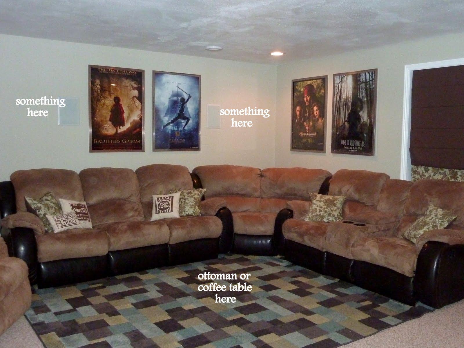 Room Decor: Concession Stand Pillow Idea; Movie Room Decor