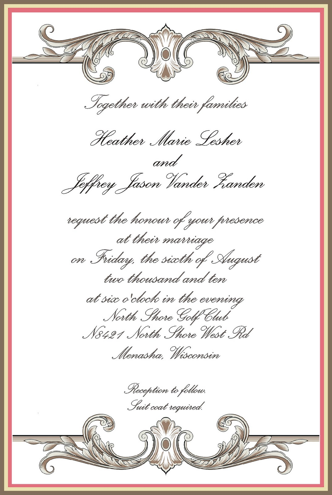 sample formal invitation card for an event sample invitation card for an event generic template