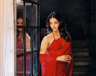 Aishwarya In Red Saree 5