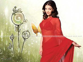 Aishwarya In Red Saree