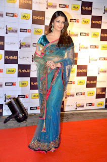 Aishwarya Got Captured In Blue Saree During An Event