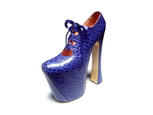 5fbcc85976d0 ... iconic shoes with 9 inch heels and 4 inch platforms are to go on display  in london. the towering platforms which famously supermodel naomi campbell  fell ...