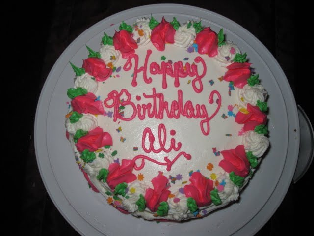 Caracakes Happy Birthday Ali