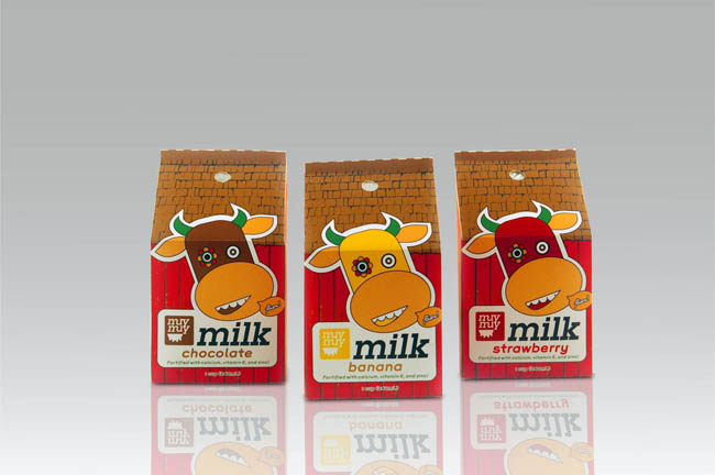 Muymuy milk, front labels