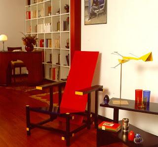 Silla Rojo y Azul de Rietveld. Precio, historia, distribuidores, etc