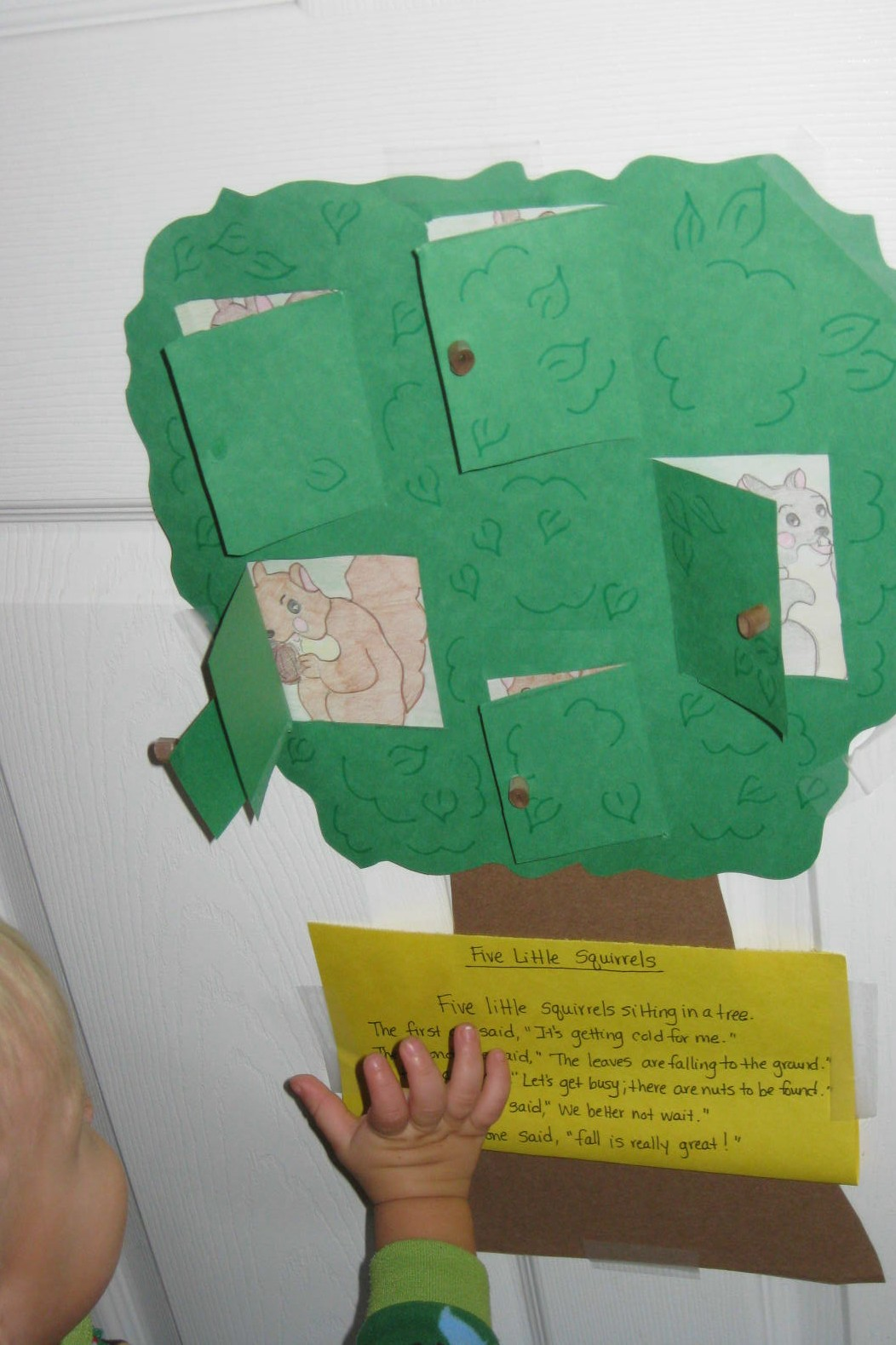 Preschool Crafts For Kids Five Little Squirrels Tree