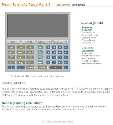 Malaysian life: Free Scientific Calculator Online