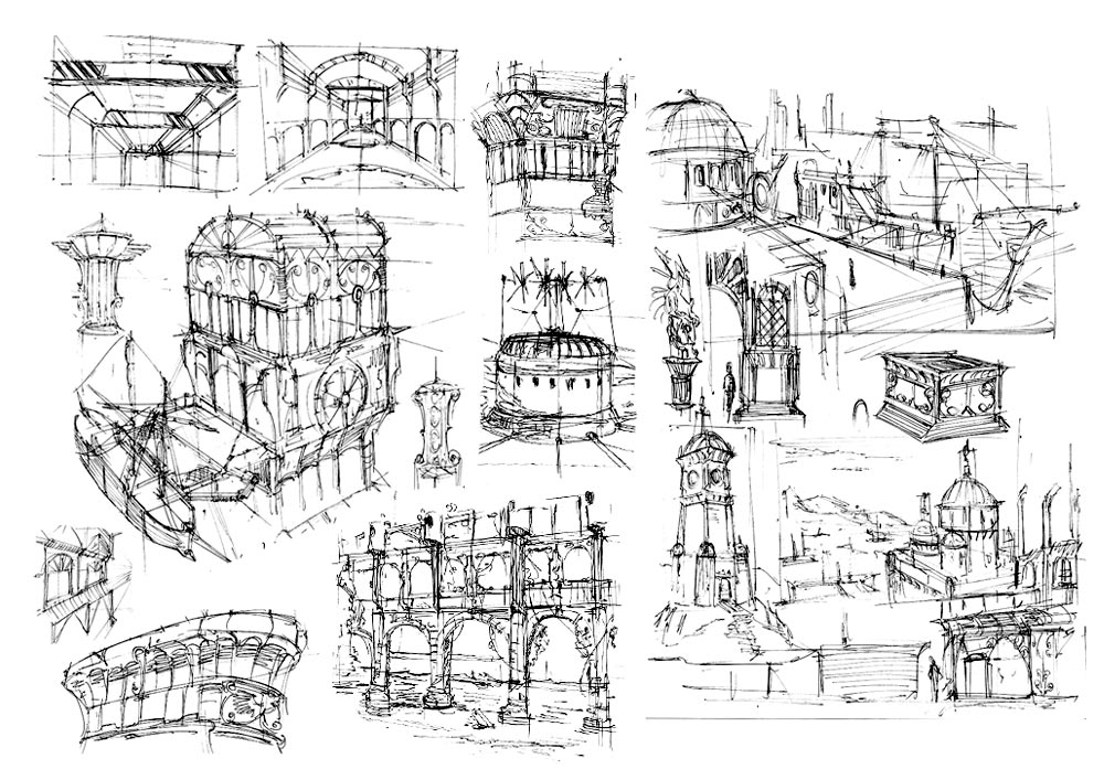 83N.P Concepts: Some environment sketch
