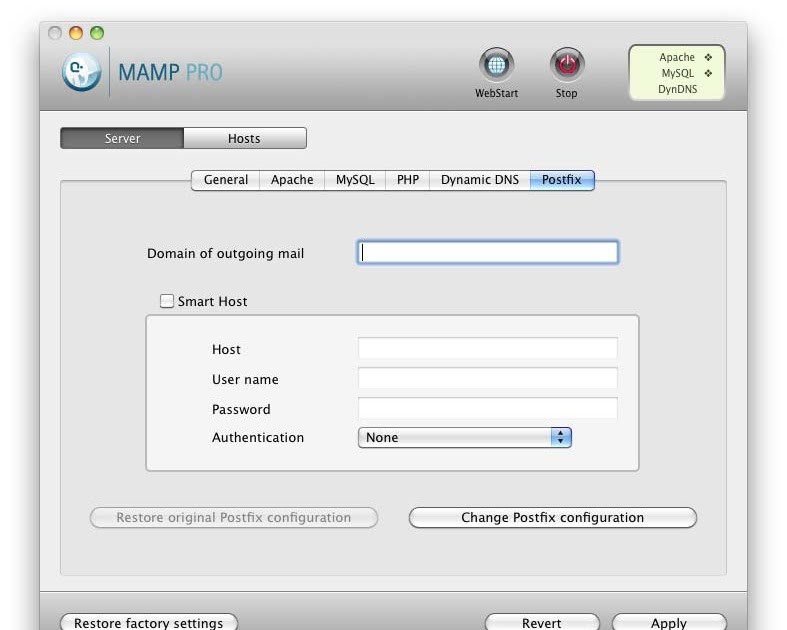 MAMP & MAMP PRO: How to: Sending Emails with MAMP PRO