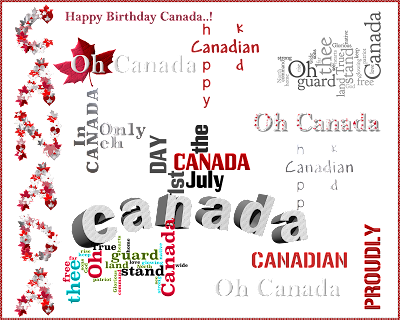 Happy birthday word art