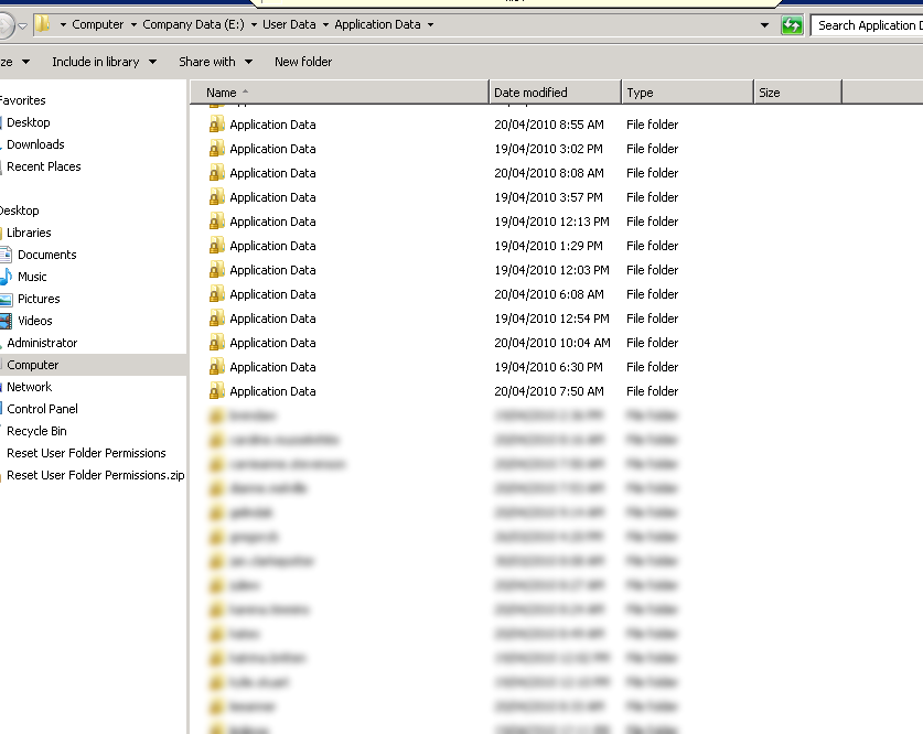 Windows Explorer Displays Redirected Folders as a Different Name
