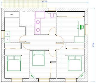 Plan de maison etage 4 chambres - Plan etage 4 chambres ...