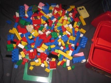 bunch of lego duplo in bucket my baby shop. Black Bedroom Furniture Sets. Home Design Ideas