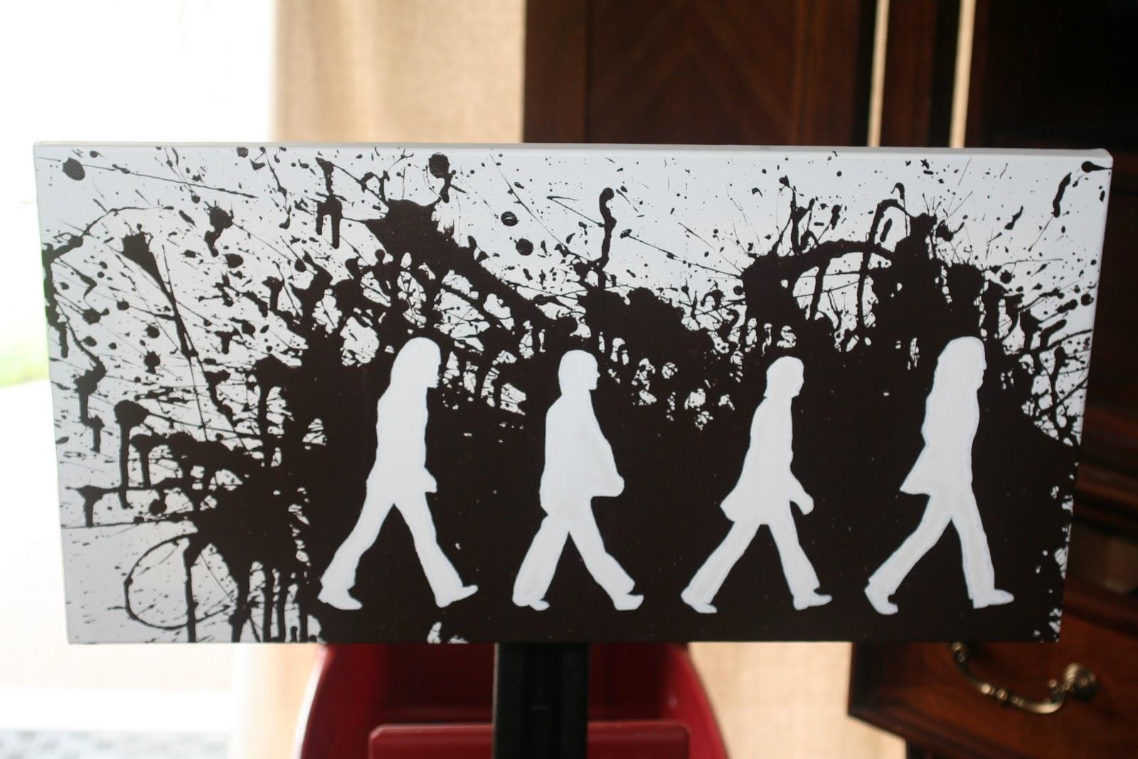 Beatles Abbey Road Stencil
