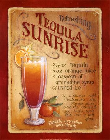 My cocktails: Recette de cocktail : Le Tequila Sunrise