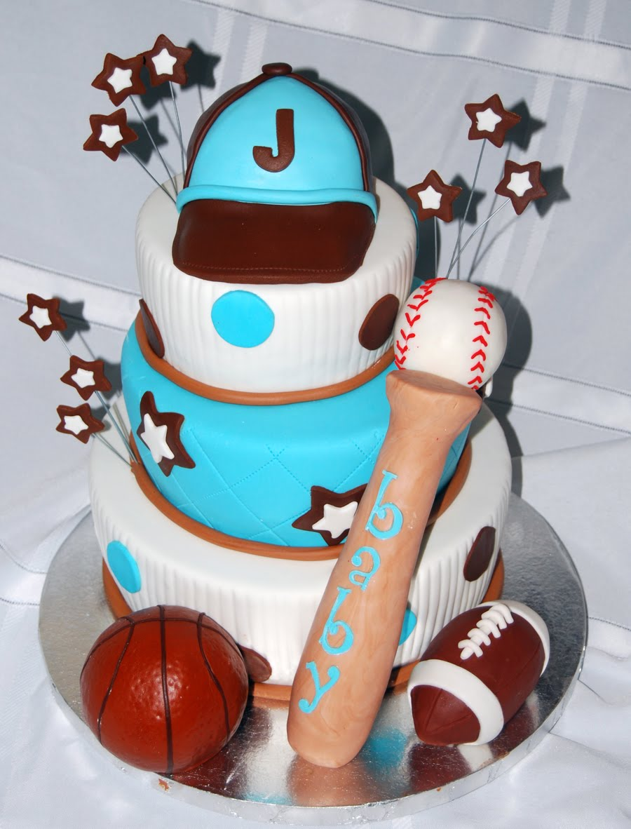 Leelees Cake-abilities: Sports Theme Baby Shower Cake