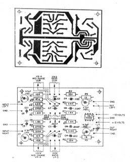 Electronics Circuits: Pre Tone Control Stereo (bass-mid
