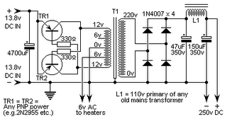 Electronics Circuits: DC13.8V to DC250V easy circuit
