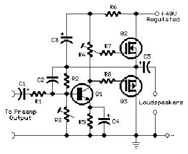 Electronics Circuits: Mini-MosFet Audio Amplifier