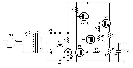 Electronics Circuits: Variable DC Power Supply