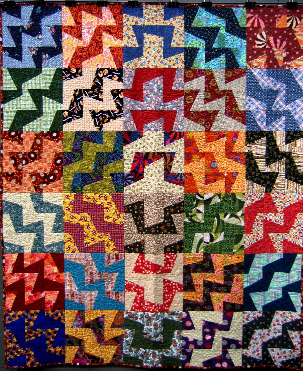 Nifty Quilts Stash Quilt