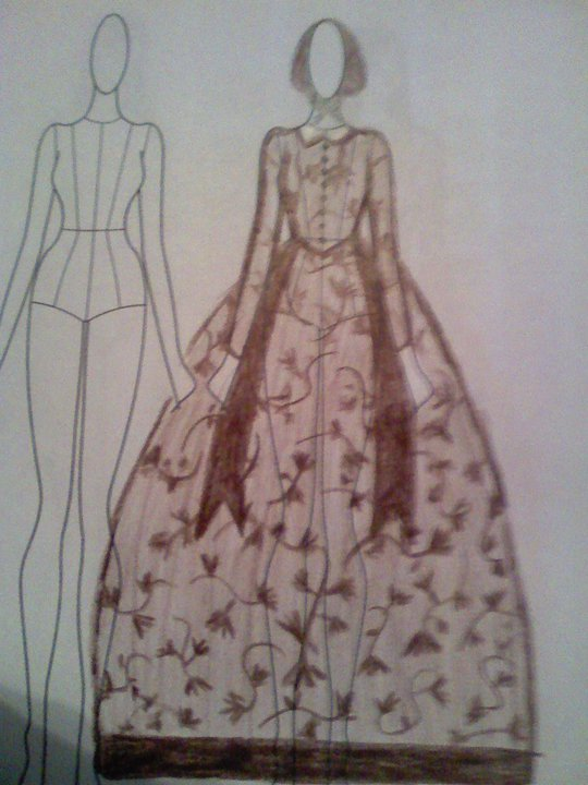 Sewing Bee: 1840s Dickens Fair Gown