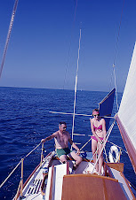Janet and Gordon on board Sans Souci