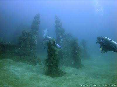 The original Underwater Temple Garden of Bali