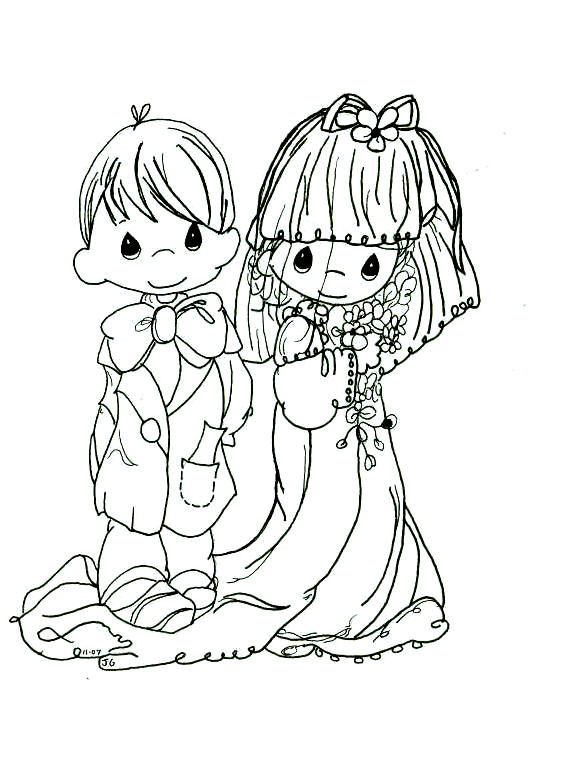 precious moments wedding coloring pages - photo#5