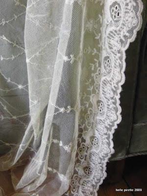 blonde gardiner Stil og Genbrug: Smukke, gamle gardiner blonde gardiner