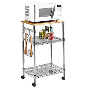 small kitchen trends kitchen microwave cart keeps your countertops clear and uncluttered