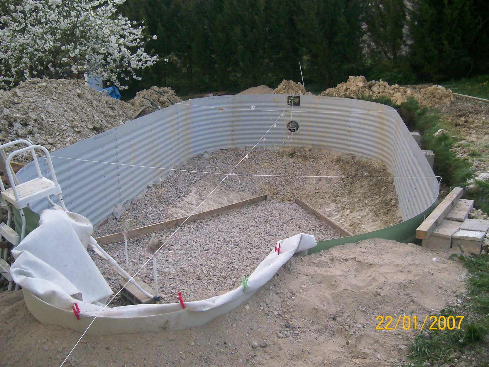 Notre olivia waterair montage etc for Vider une piscine hors sol