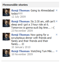 Facebook Memorable Stories