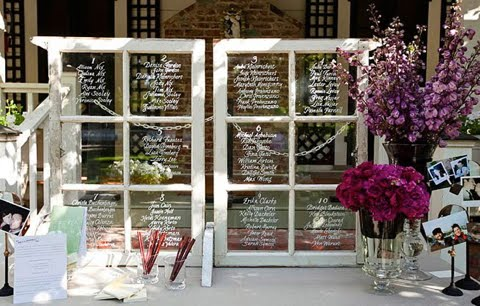 Rustic Wedding Window Seating Chart - Reception - Project ...