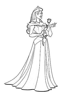 Coloring Pages of Beautiful Princesses