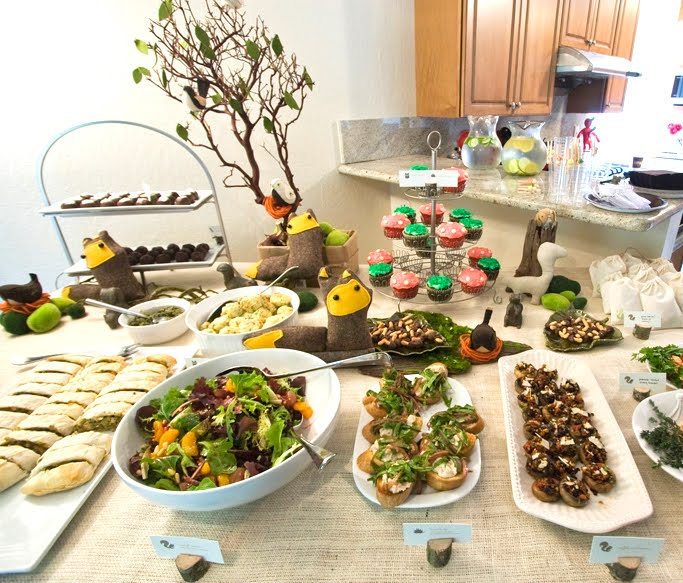 Woodland Creature Baby Shower Food