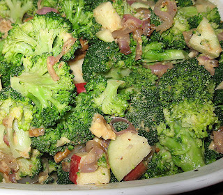 Crunchy broccoli and apple salad, adapted from 101 Cookbooks