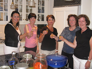 friends in the kitchen tasting limoncello
