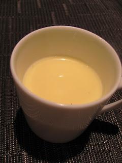 One mug of coconut creme brulee