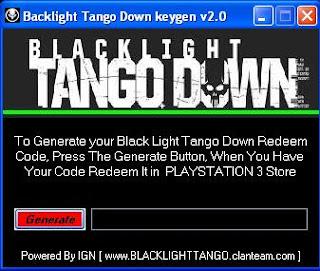Down blacklight tango