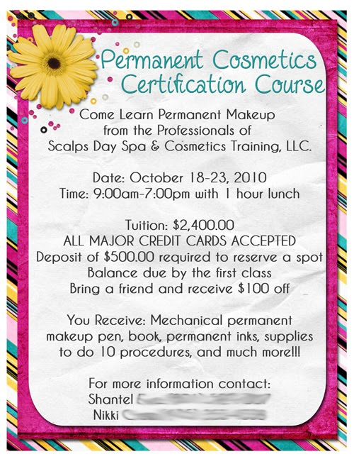 Designs By Kassie Permanent Makeup Flyer