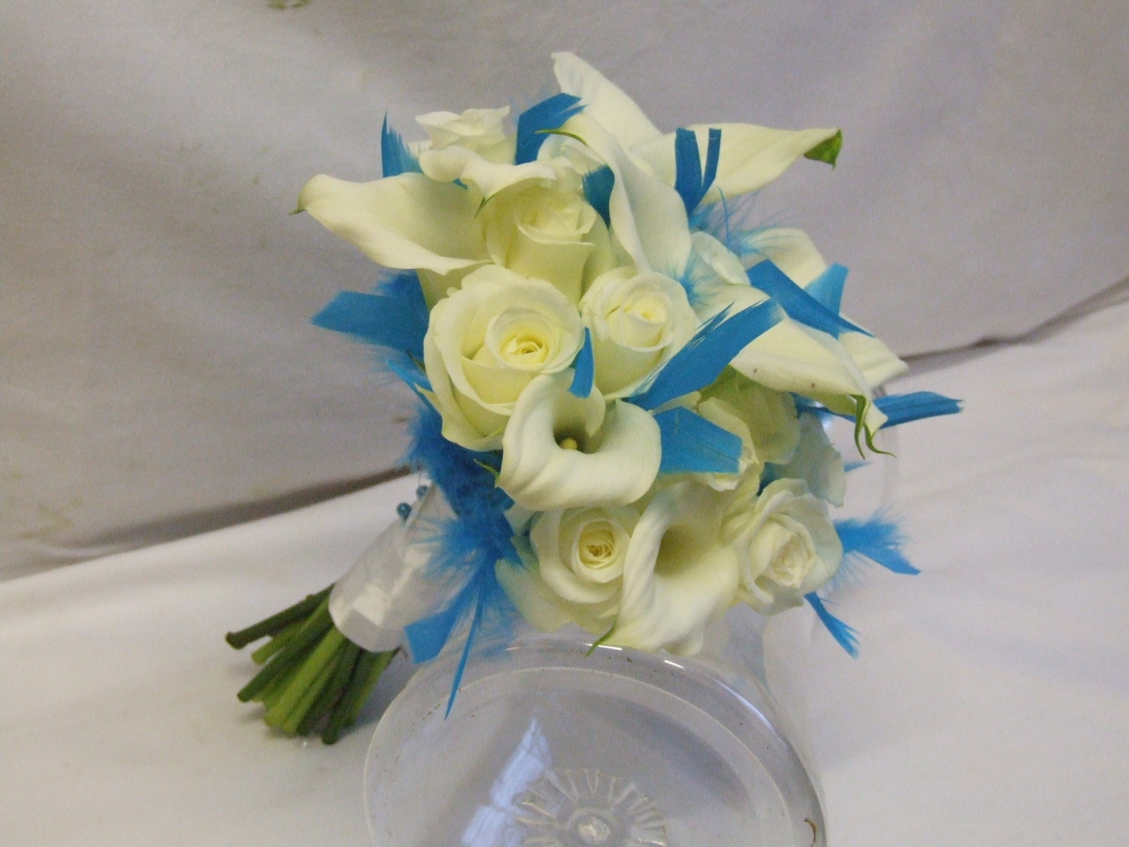 RJ's Florist: Turquoise And White Wedding Flowers