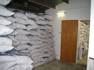 Image result for Rice bags in a room