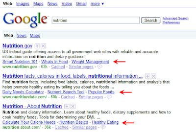 Nuevo formato de los sitelinks en los resultados de búsqueda de Google
