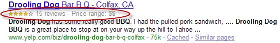 Rich Snippet from Google